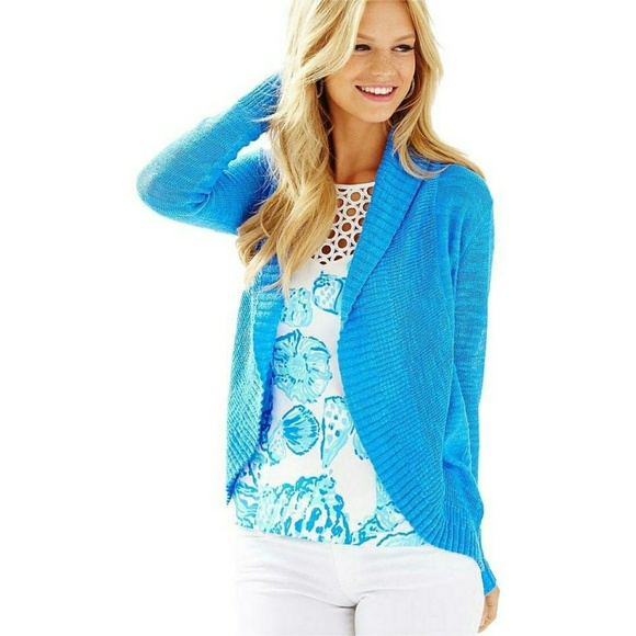 Lilly Pulitzer Sweaters - Lilly Pulitzer blue Amalie Cardigan 1c2a85efd